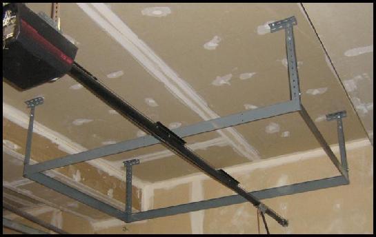 Overhead garage storage racks finished overhead rack frame solutioingenieria Images
