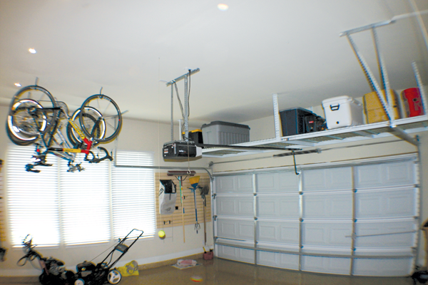 An Ex&le Overhead Storage Rack Installation & Overhead Garage Storage Racks